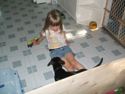 June 9, 2007: Karmen and Koda.
