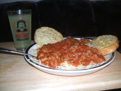 October 7, 2007: Pasta ala Carnie.