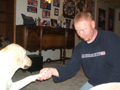 November 3, 2007: Riley Teaches Todd To Shake.